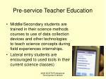 pre service teacher education