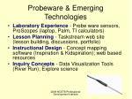 probeware emerging technologies