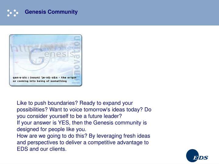 Genesis Community