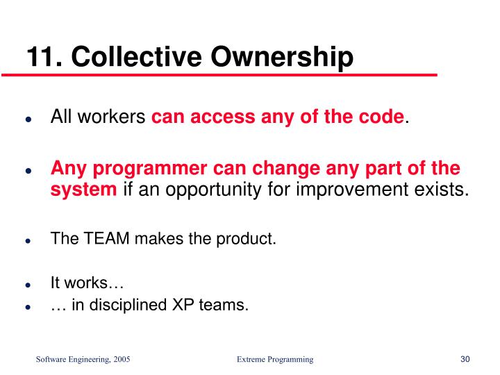11. Collective Ownership