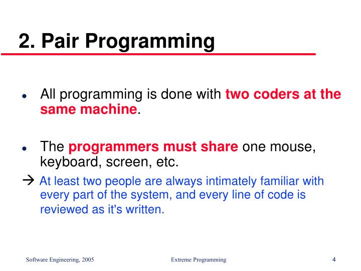 2. Pair Programming