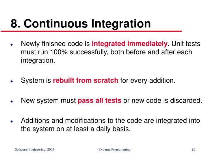 8. Continuous Integration
