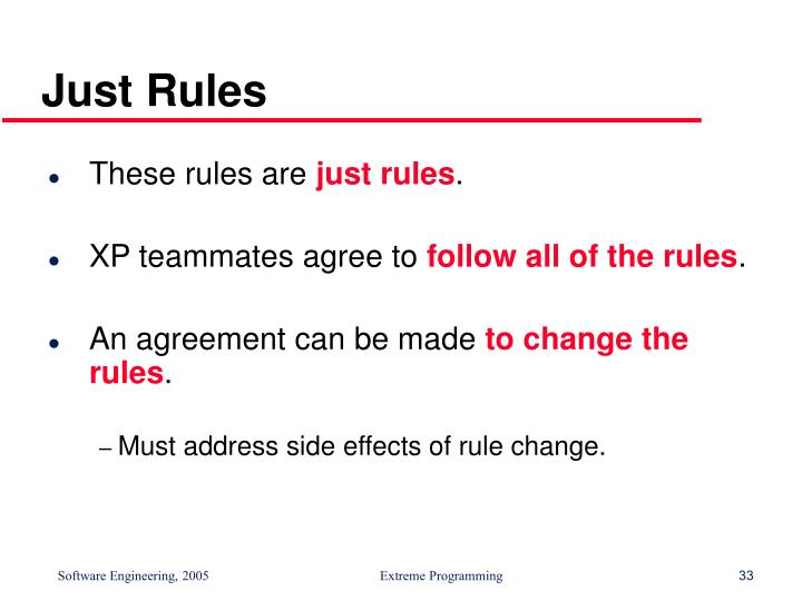 Just Rules