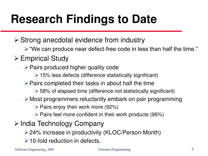 Research Findings to Date