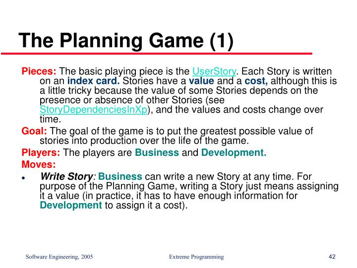 The Planning Game (1)