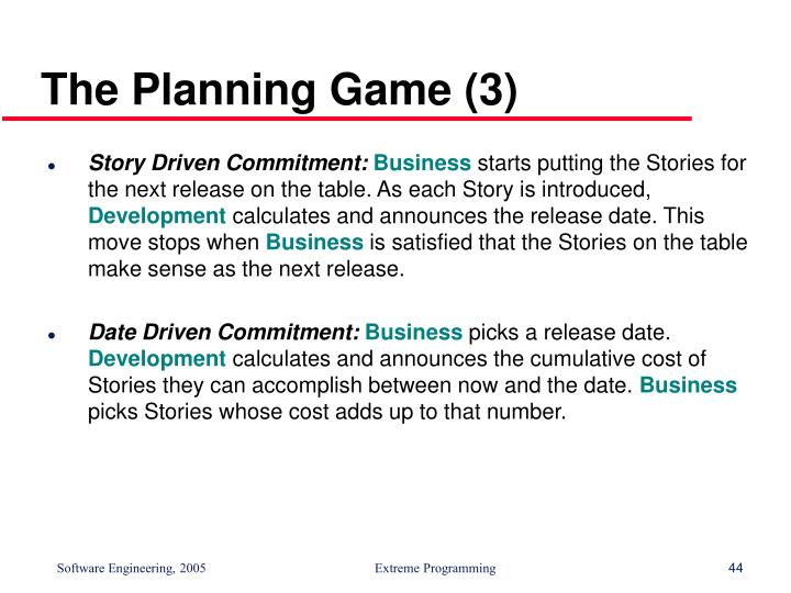 The Planning Game (3)