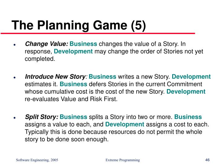 The Planning Game (5)