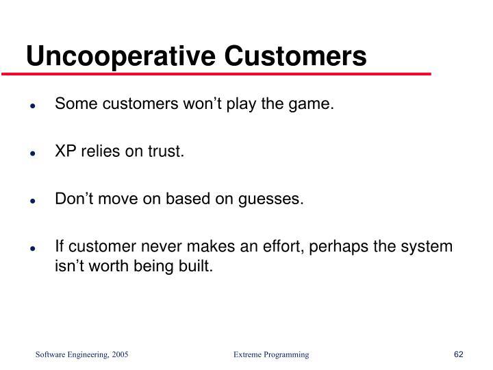 Uncooperative Customers