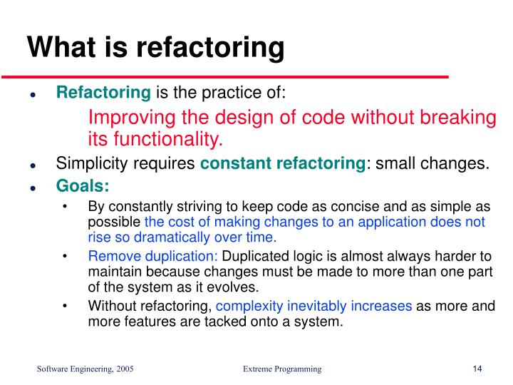 What is refactoring