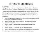 defensive strategies1
