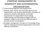 strategic management in nonprofit and governmental organizations1