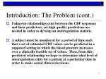introduction the problem cont