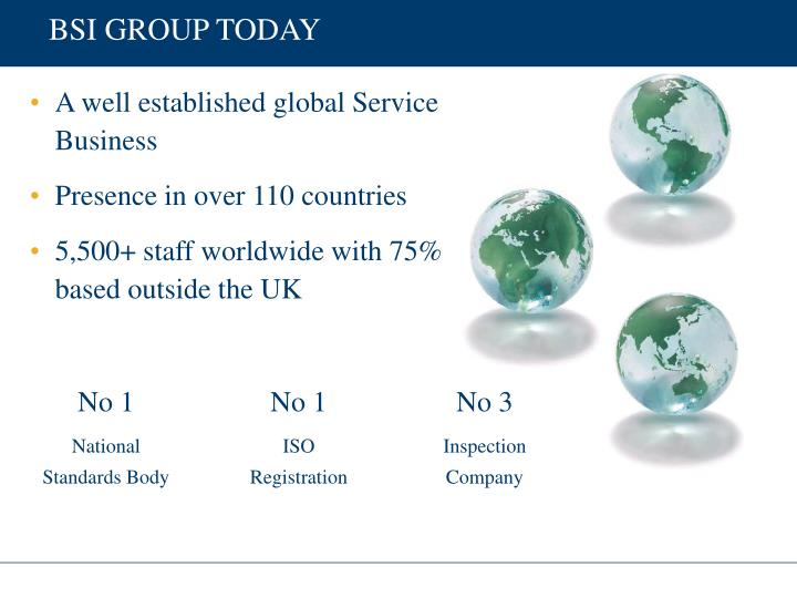 BSI GROUP TODAY