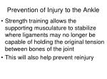 prevention of injury to the ankle1