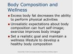 body composition and wellness