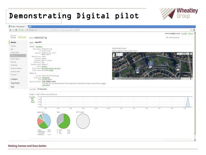 Demonstrating Digital pilot