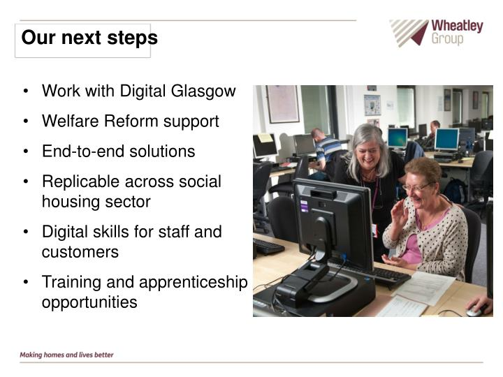 Our next steps