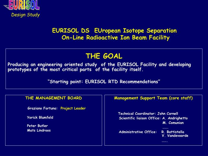 eurisol ds european isotope separation on line radioactive ion beam facility n.