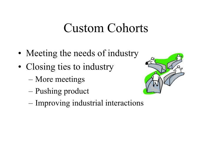 Custom Cohorts
