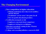 the changing environment2