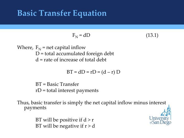 Basic Transfer Equation