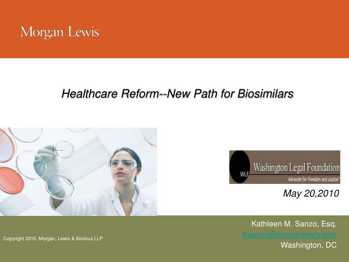 healthcare reform new path for biosimilars