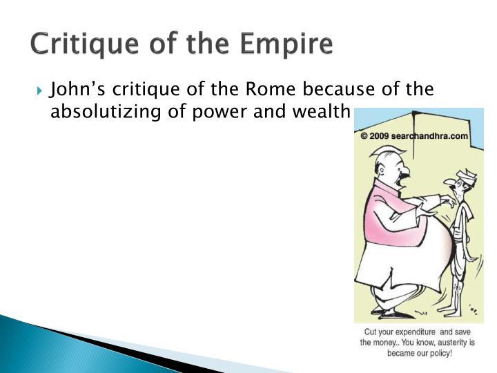 Critique of the Empire