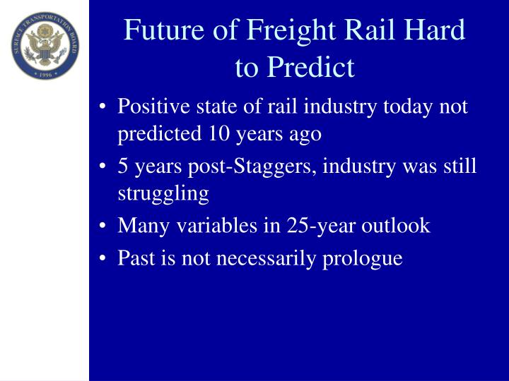 Future of Freight Rail Hard to Predict