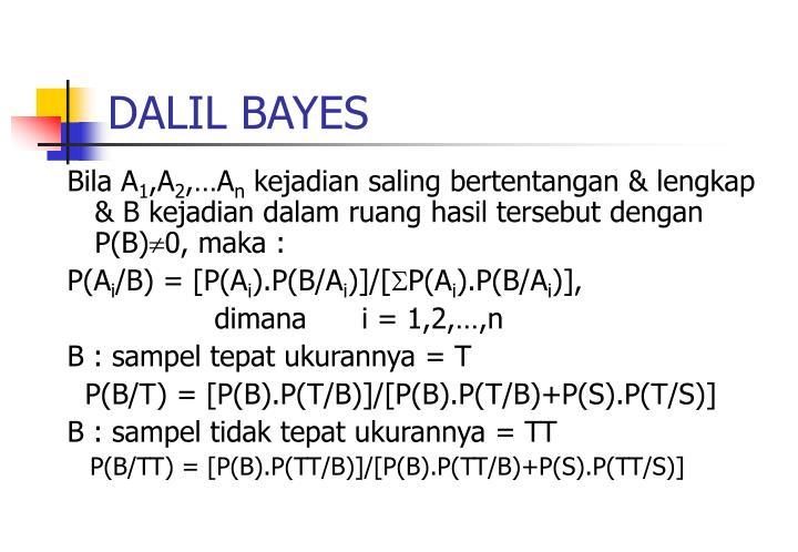 DALIL BAYES