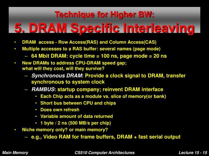 Technique for Higher BW: