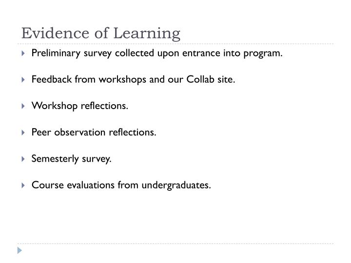 Evidence of Learning