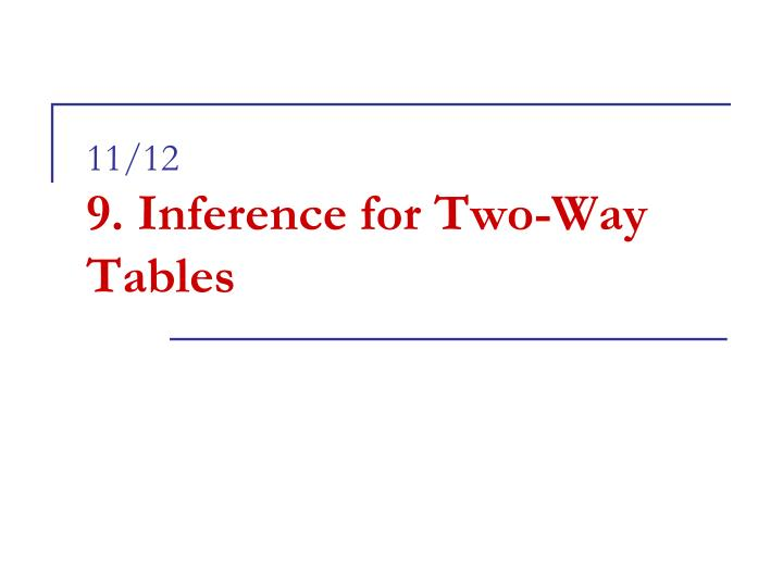 11 12 9 inference for two way tables n.