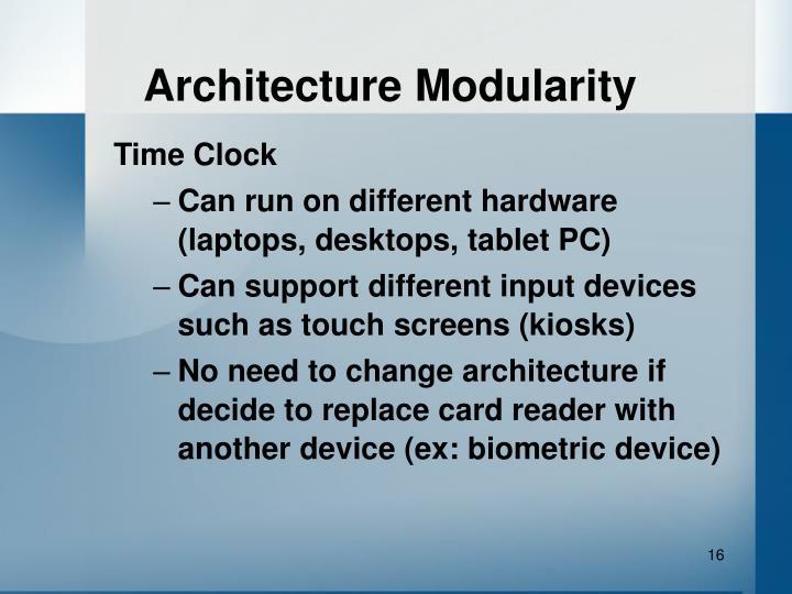 Architecture Modularity