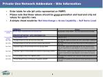 private use network addendum site information