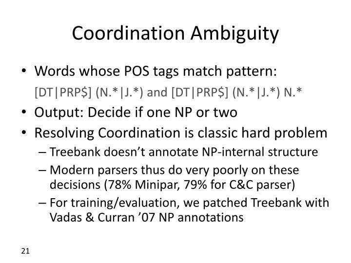 Coordination Ambiguity