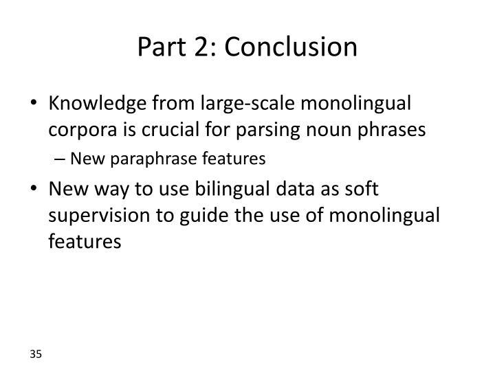 Part 2: Conclusion