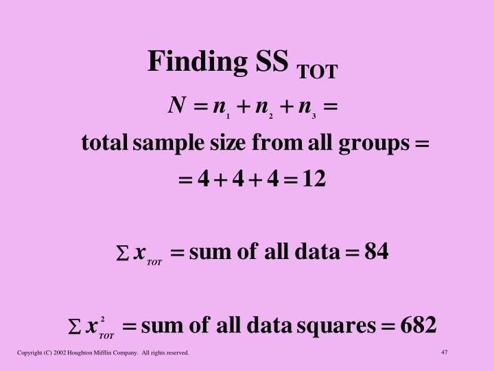Finding SS