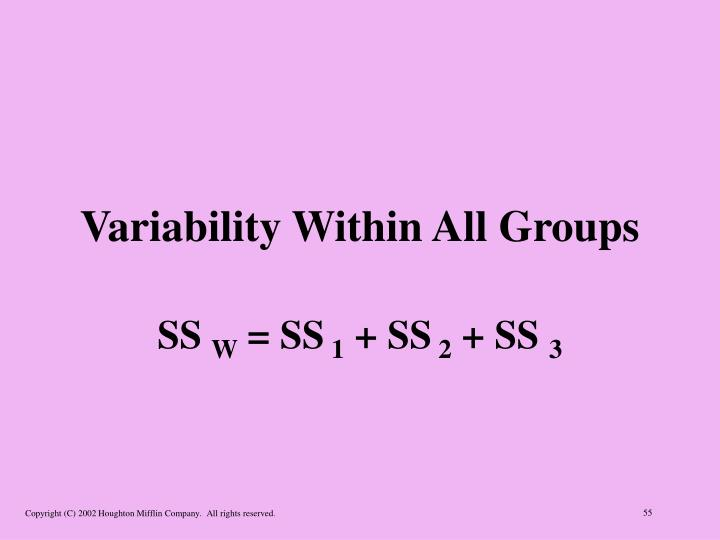 Variability Within All Groups