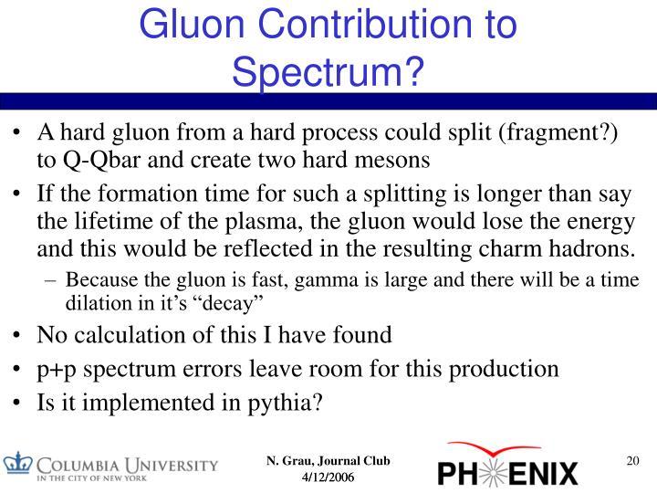 Gluon Contribution to Spectrum?