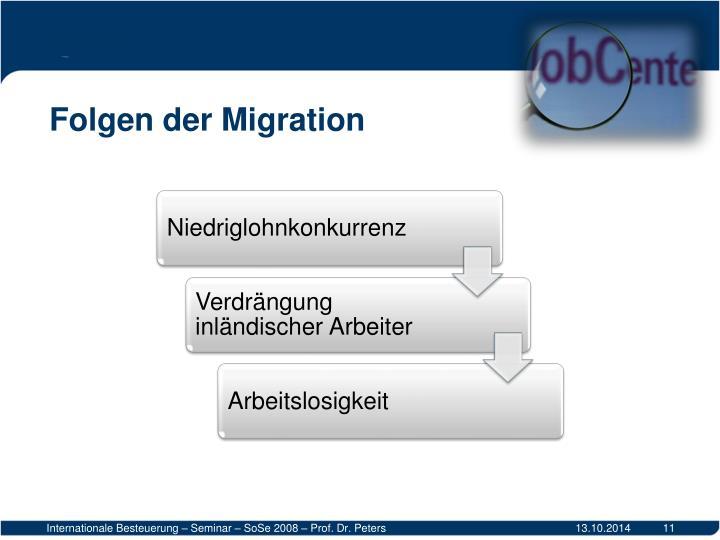 Folgen der Migration