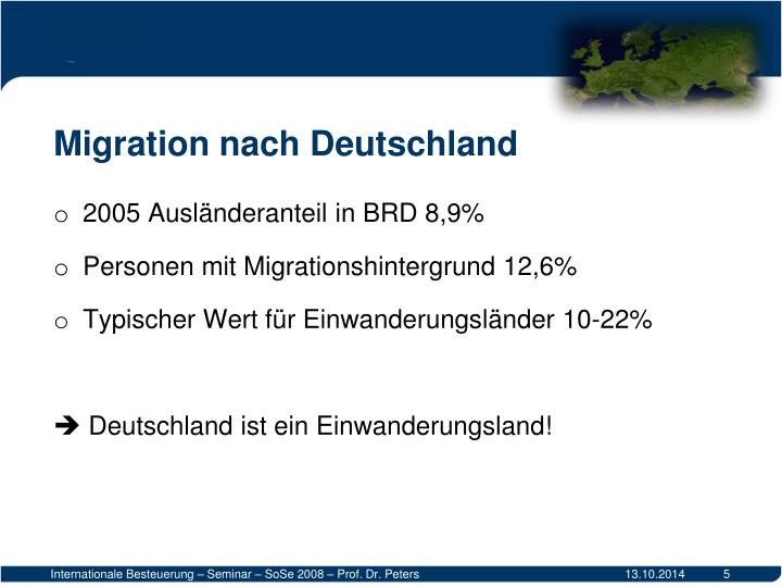 Migration nach Deutschland
