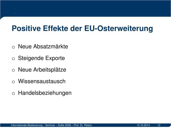 Positive Effekte der EU-Osterweiterung