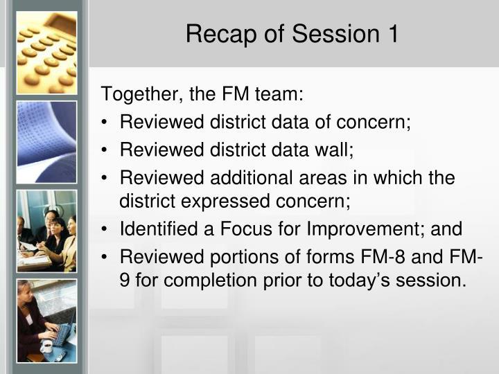 Recap of session 1
