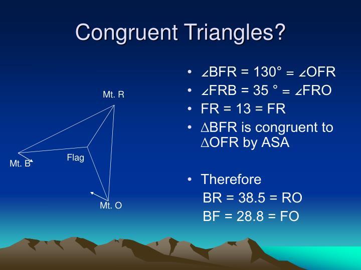 Congruent Triangles?