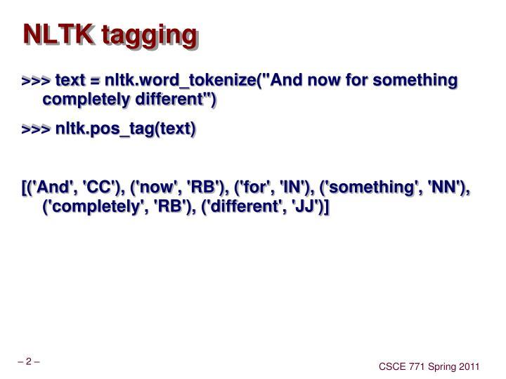 Nltk tagging