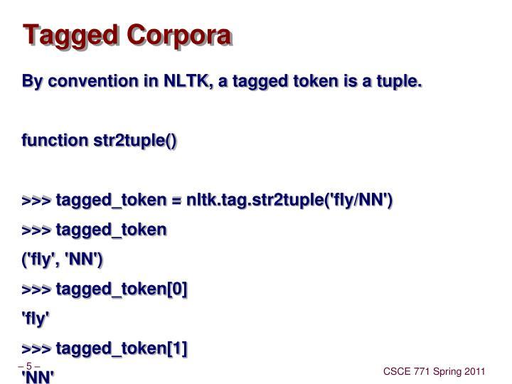 Tagged Corpora