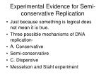 experimental evidence for semi conservative replication