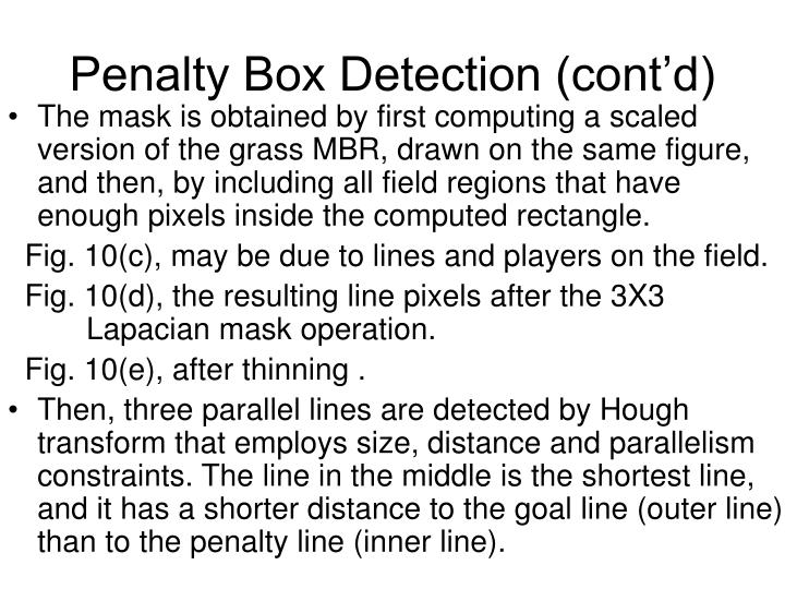 Penalty Box Detection (cont'd)