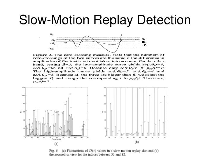 Slow-Motion Replay Detection