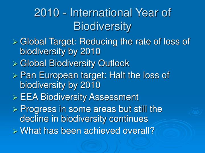 2010 international year of biodiversity
